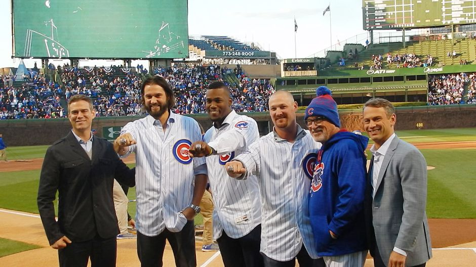 Jugadores de Kansas City reciben anillo de los Cachorros