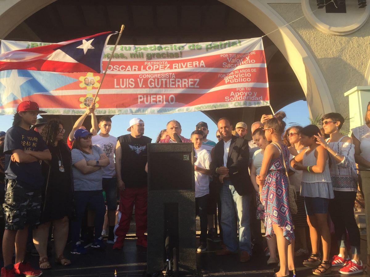 Óscar López Rivera volvió a Chicago entre concurridas celebraciones