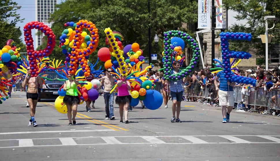 El desfile del orgullo gay en Chicago.
