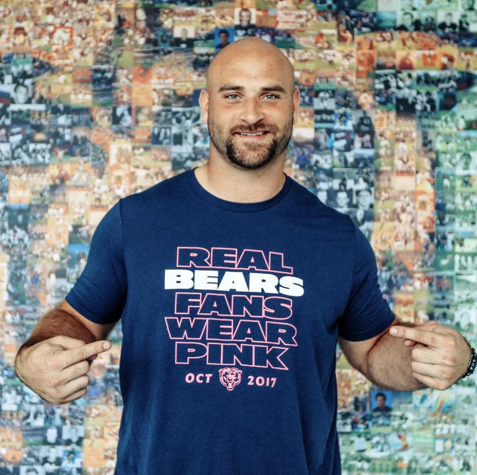 Los Chicago Bears apoyan la lucha contra el cáncer de mama.