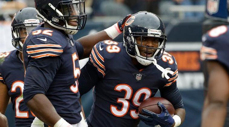 Eddie Jackson, novato estrella en la defensa de los Chicago Bears.