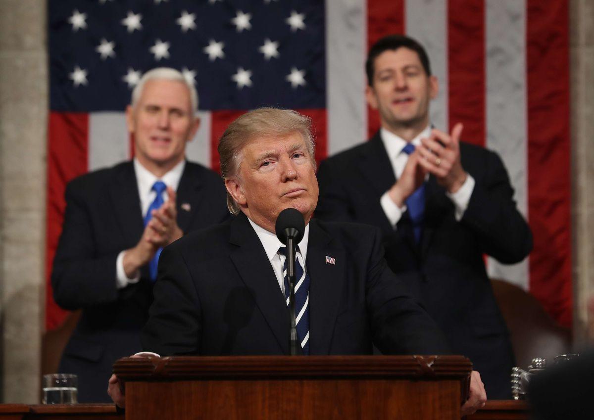 El presidente Trump en el Congreso.