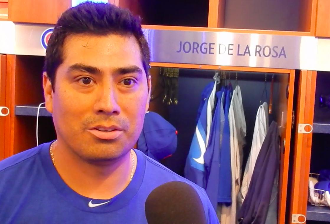 Jorge De La Rosa, listo para playoffs con los Cubs
