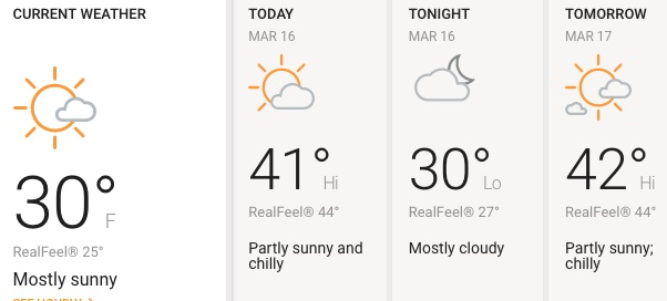 Sábado parcialmente soleado y frío en Chicago