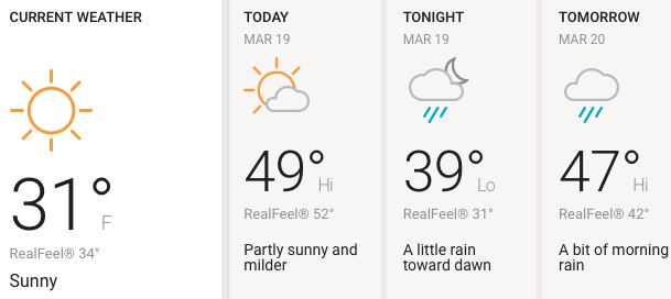 Martes soleado con algo de lluvia por la tarde en Chicago