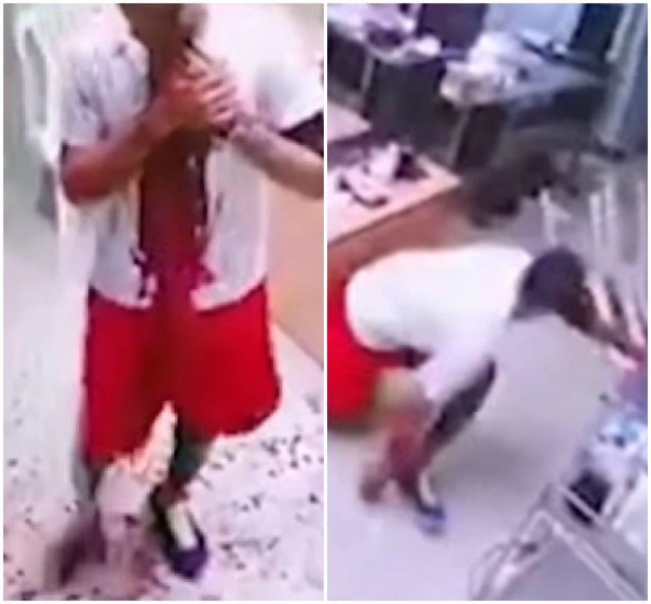 Paciente ensangrentado trata de enfrentar a hombres que lo apuñalaron en hospital dominicano