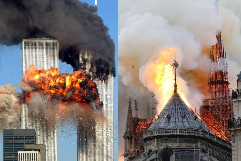 """YouTube vincula por """"error"""" la cobertura del incendio de Notre Dame con atentados del 11-S"""