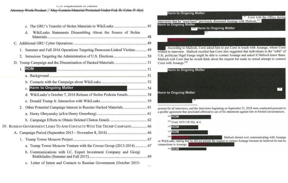 Aquí el reporte completo del fiscal especial Robert Mueller sobre la Trama Rusa y Trump