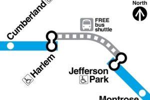 Cierran estaciones de la CTA para actualizar sistema de señales en Chicago