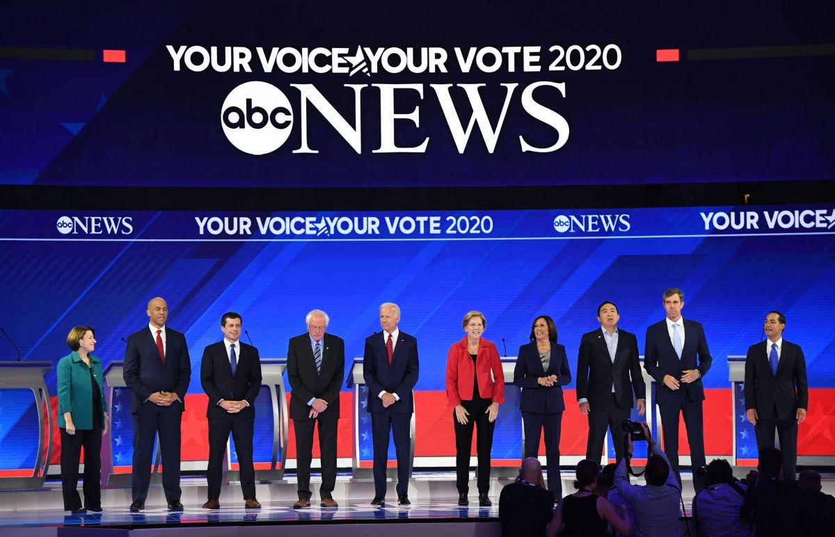 El tercer debate demócrata en Houston, Texas.