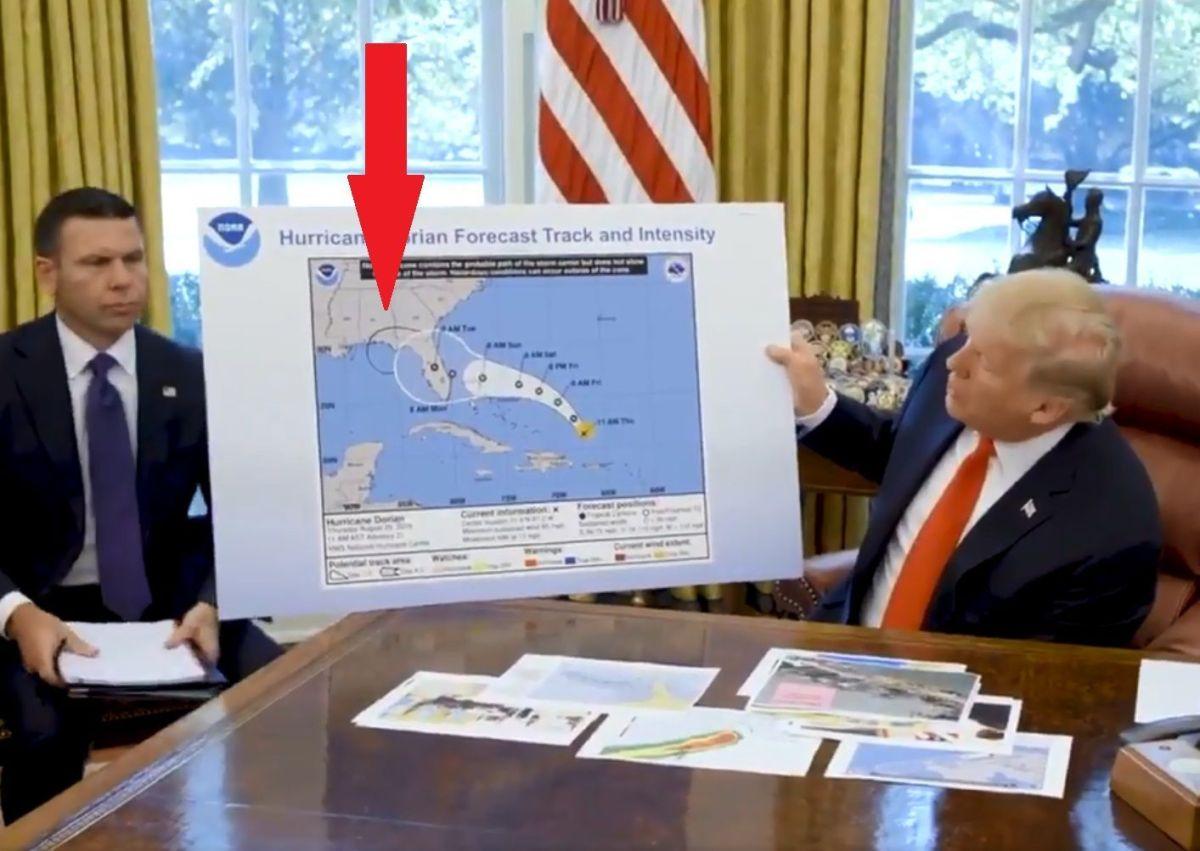 El presidente aseguró que el huracán Dorian pasaría por Alabama.