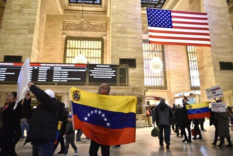 Desde Grand Central, venezolanos en Nueva York apoyaron llamado a protesta nacional