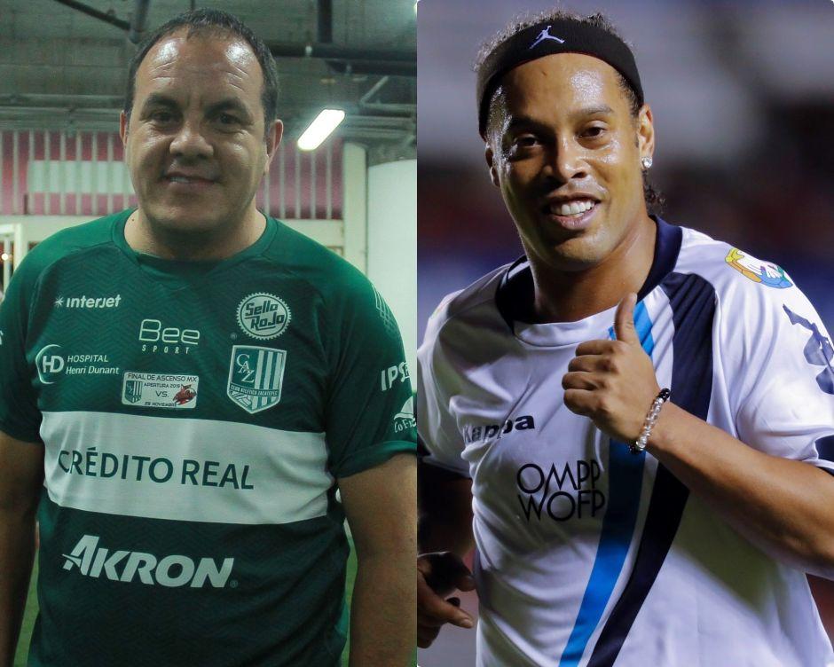 Ronaldinho y Cuauhtémoc Blanco regresan a las canchas para jugar juntos en México