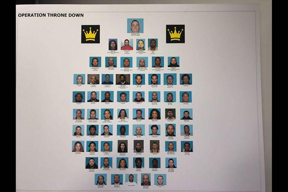 Caen más de 50 miembros de los Latin Kings en operativo en la costa este