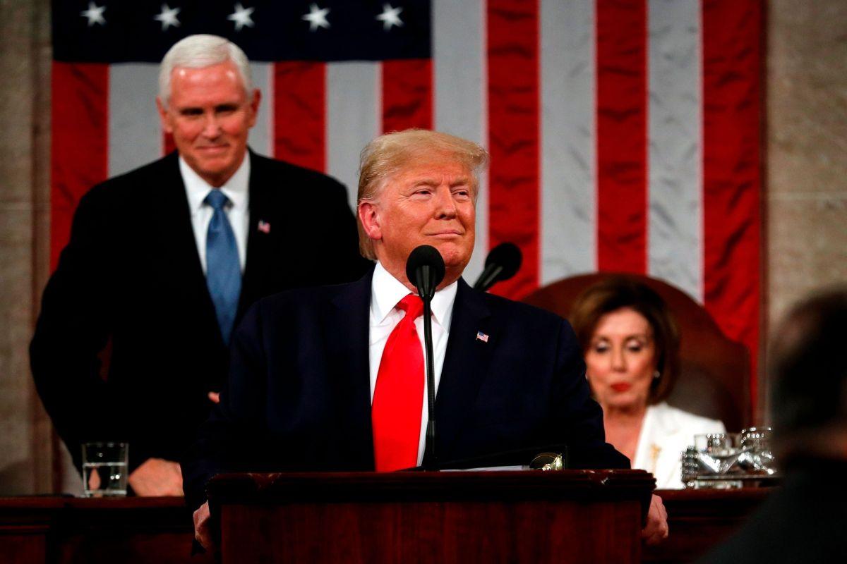 Trump en el Congreso.