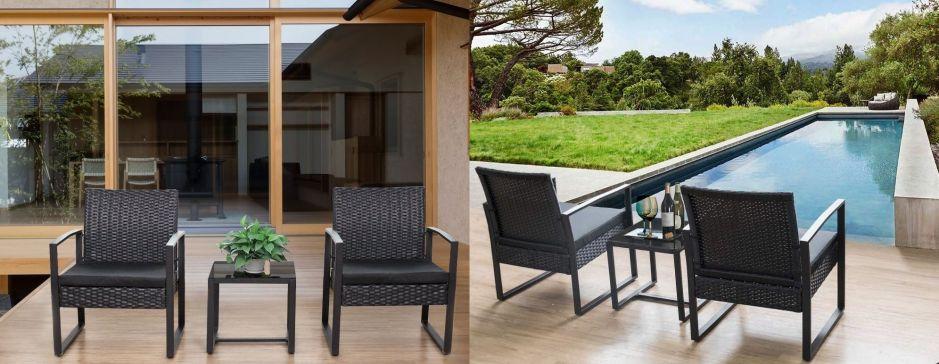 5 sets de muebles de jardín por menos de $200 para disfrutar al aire libre cuando llegue la primavera