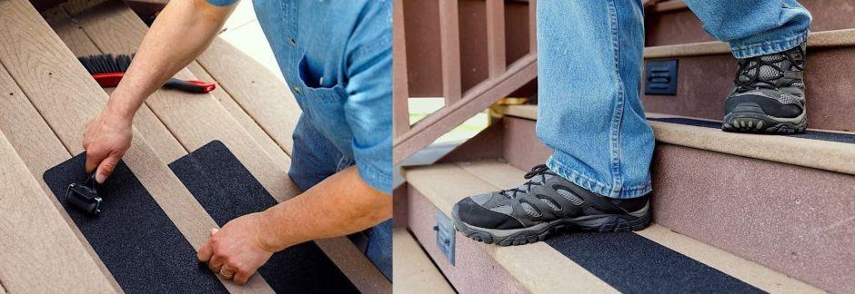 4 tipos de cintas antideslizantes de seguridad para usar las escaleras de tu casa