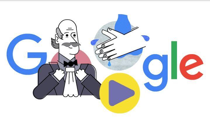 Google dedica Doodle a Ignaz Semmelweis y su importancia en el lavado de manos