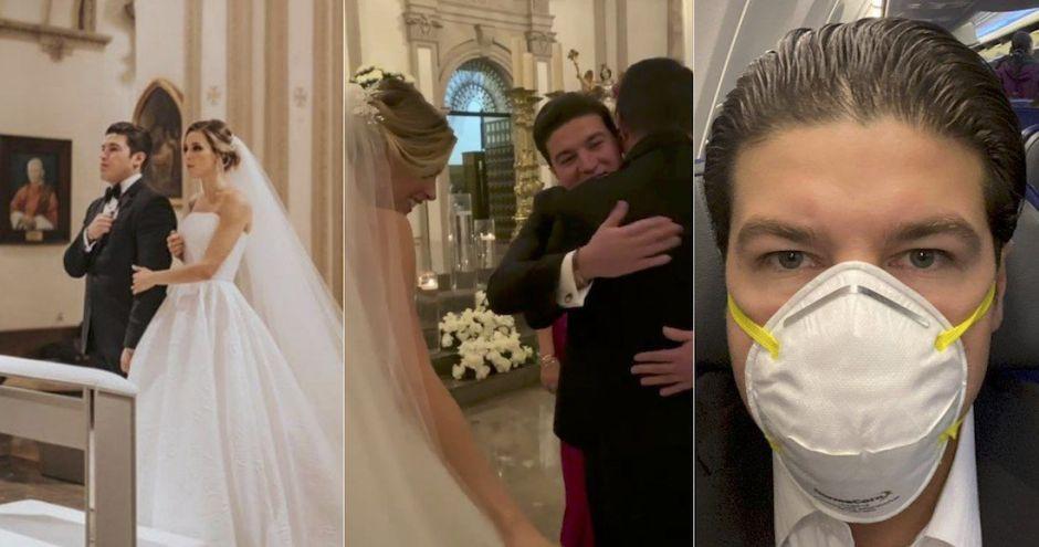 Entre besos y abrazos, se casa senador que acusó al gobierno de AMLO de ocultar cifras de coronavirus
