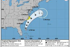 Arthur: la primera tormenta tropical de la temporada está en el sureste de Estados Unidos