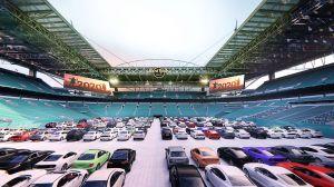 El emblemático estadio Hard Rock de Miami se convierte en un autocine en época de coronavirus