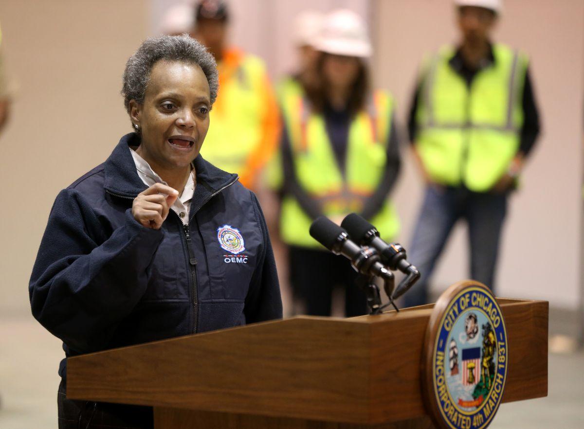 La alcaldesa de Chicago Lori Lightfoot lanza la campaña Reclamando Comunidades.