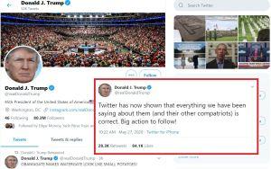 Trump amenaza a Twitter tras decisión de la red social de verificar información publicada por el presidente