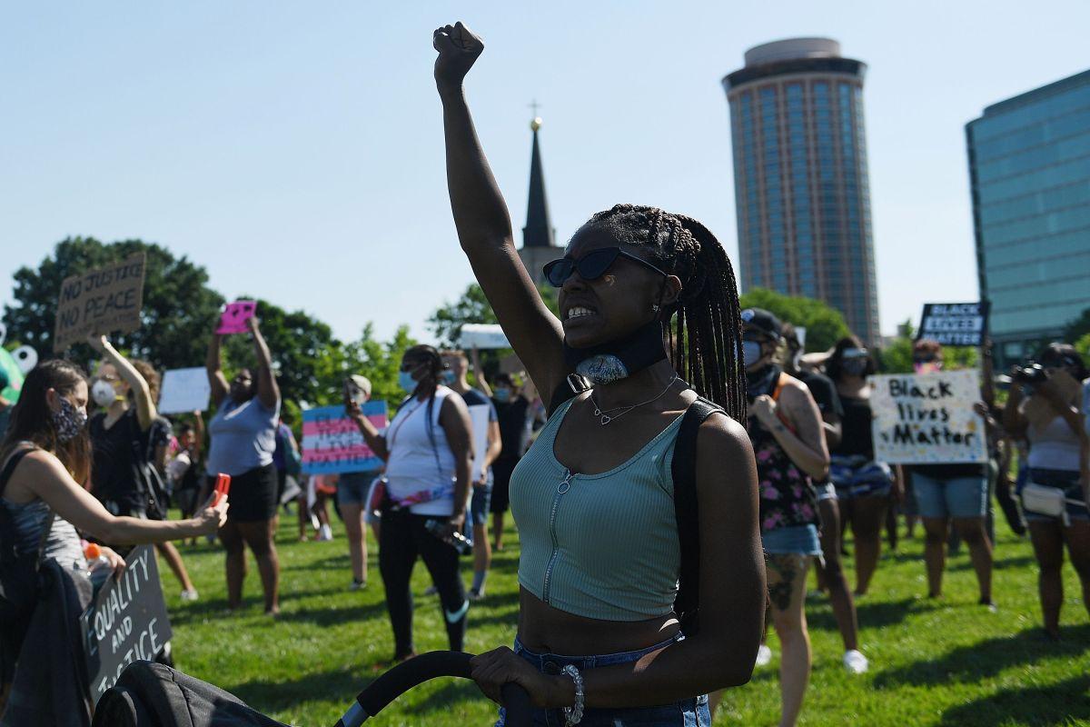 Los manifestantes pedían la renuncia de la alcaldesa de St. Louis, Missouri.