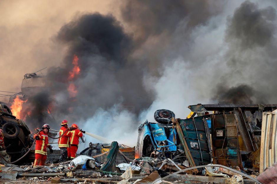 Fotos y videos de la destrucción en las calles de Beirut después de explosión en el puerto