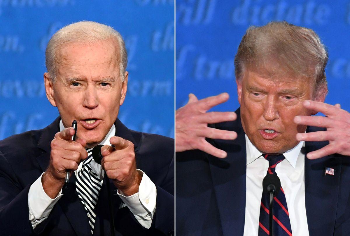 Trump y Biden tienen un debate caótico y cargado de ataques feroces y muchas interrupciones