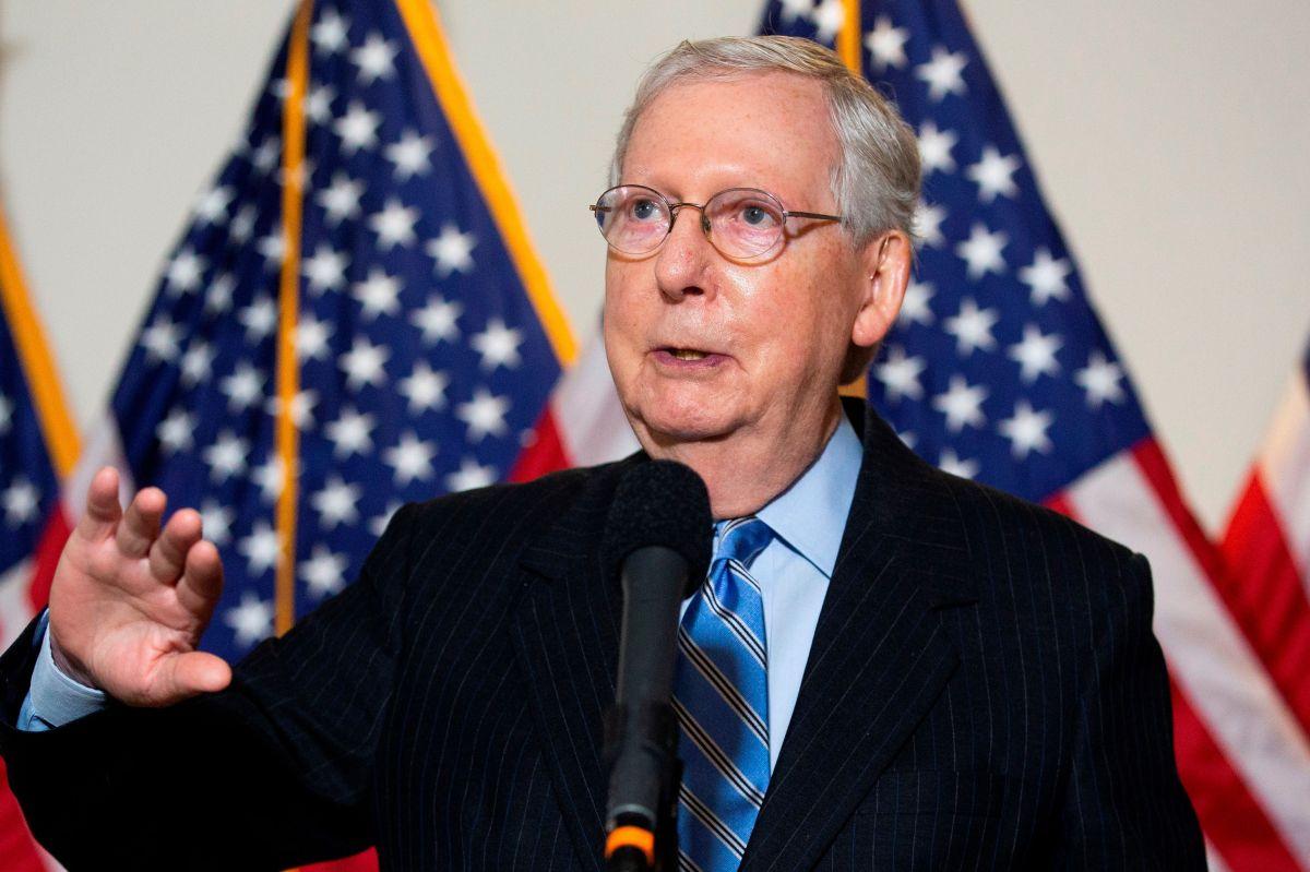 El líder de la mayoría en el Senado, Mitch McConnell.