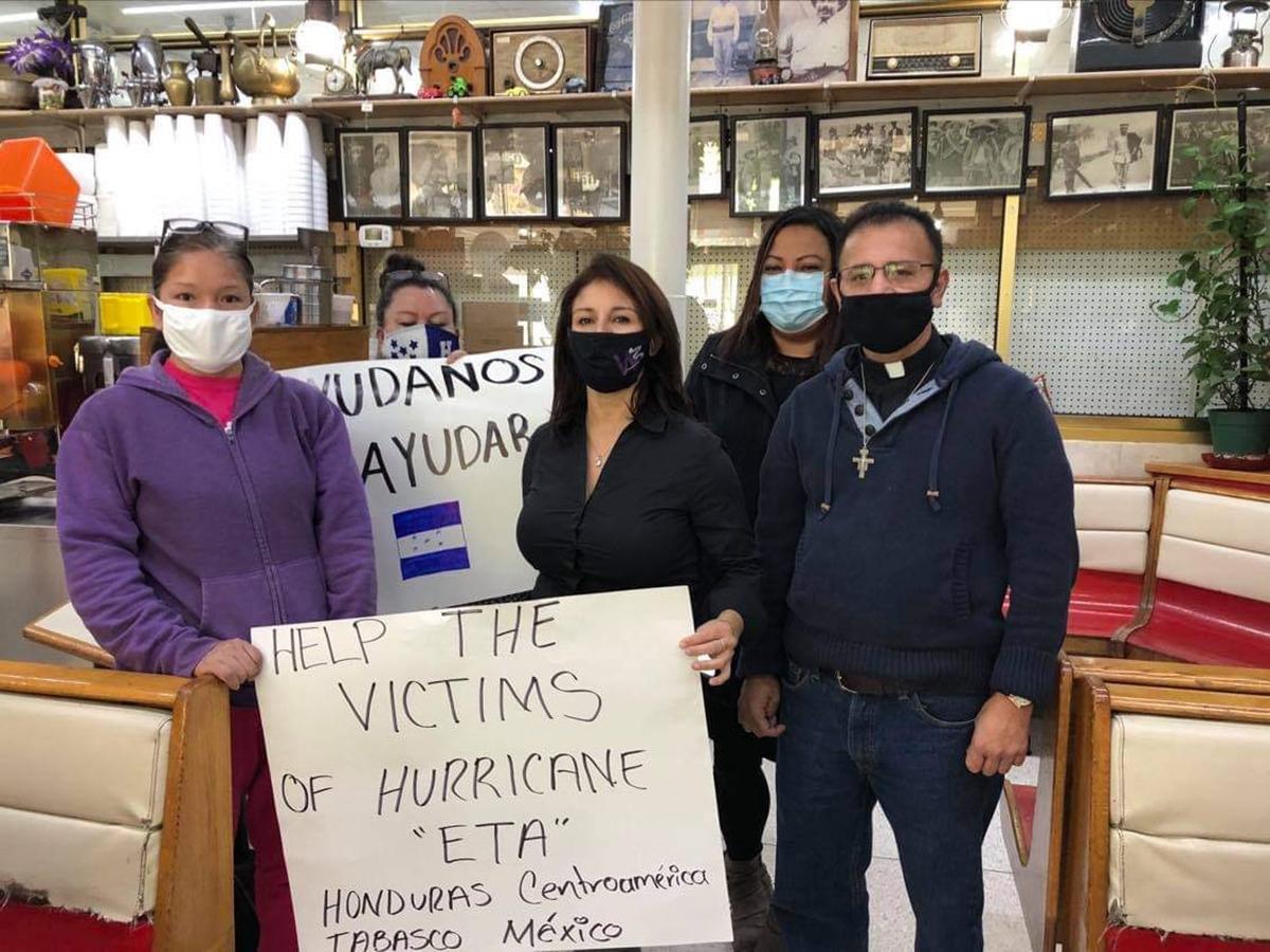 Solidaridad en Chicago con damnificados centroamericanos y mexicanos del huracán Eta