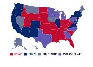 Tres estados provocan una elección cardiaca: Trump y Biden pelean cada voto