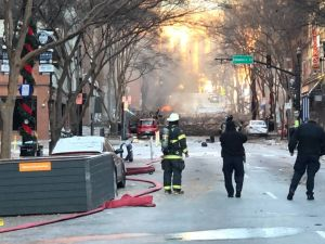 Video: Las estremecedoras imágenes de la explosión en Nashville, Tennessee