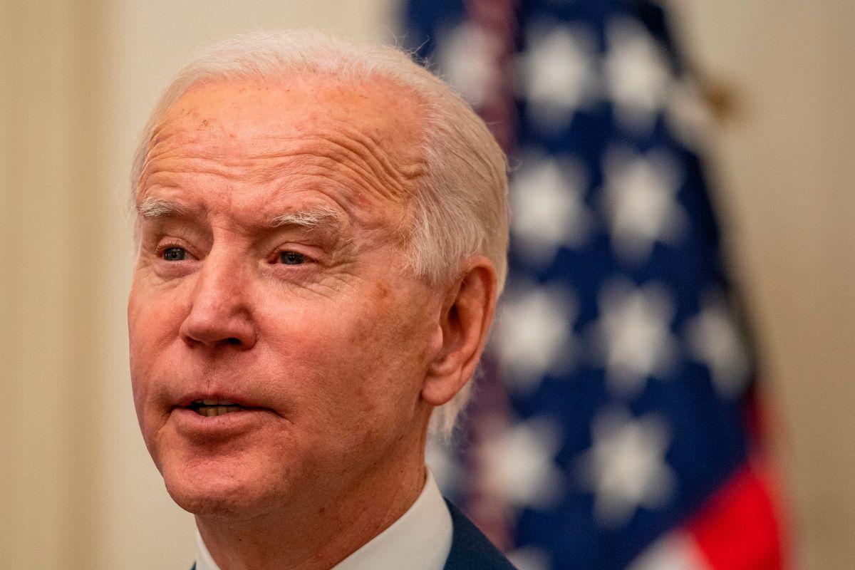 El presidente Joe Biden desde la Casa Blanca este viernes.