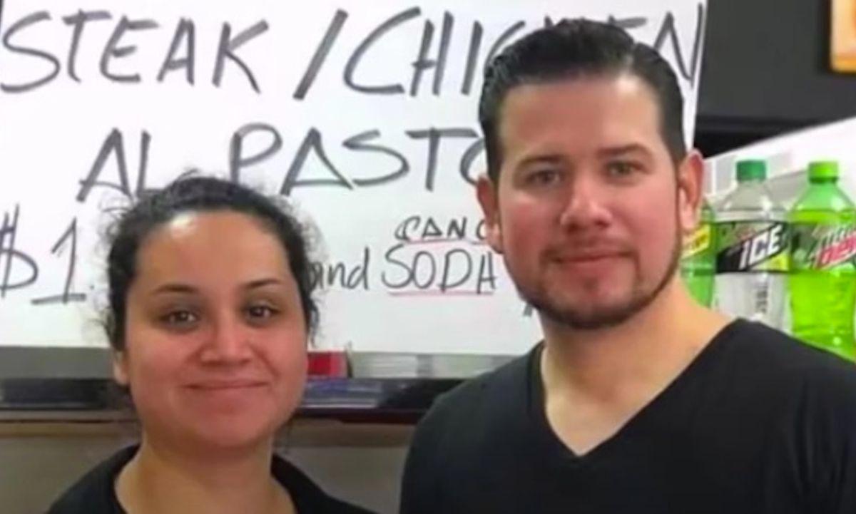 Erika Castro y su esposo Pablo Sánchez son dueños del restaurante Gyros Planet & Taqueria ubicado en el suburbio de Evanston.