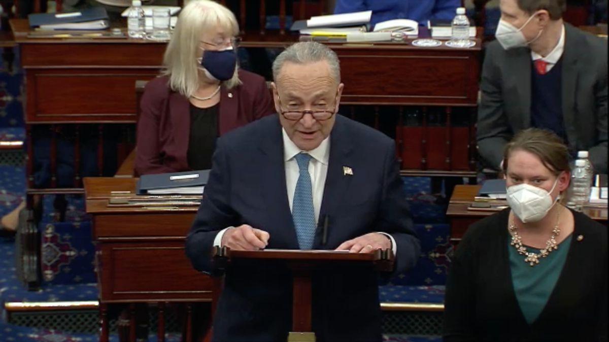 Chuck Schumer, líder de la mayoría del Senado.
