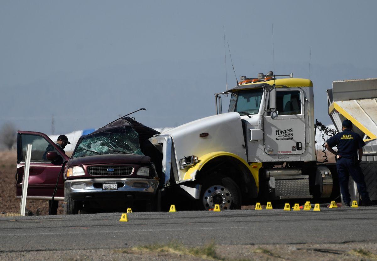 CBP actualiza la cifra a 13 muertos en choque entre un SUV y un camión en California