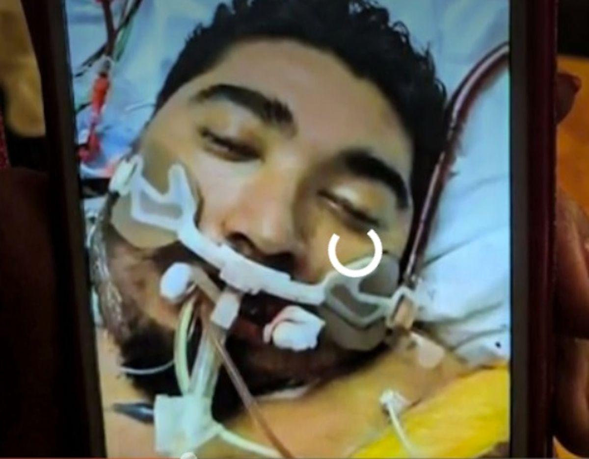 Jason Barbosa, de 25 años sobreviviente del covid-19. Foto Captura CBS2