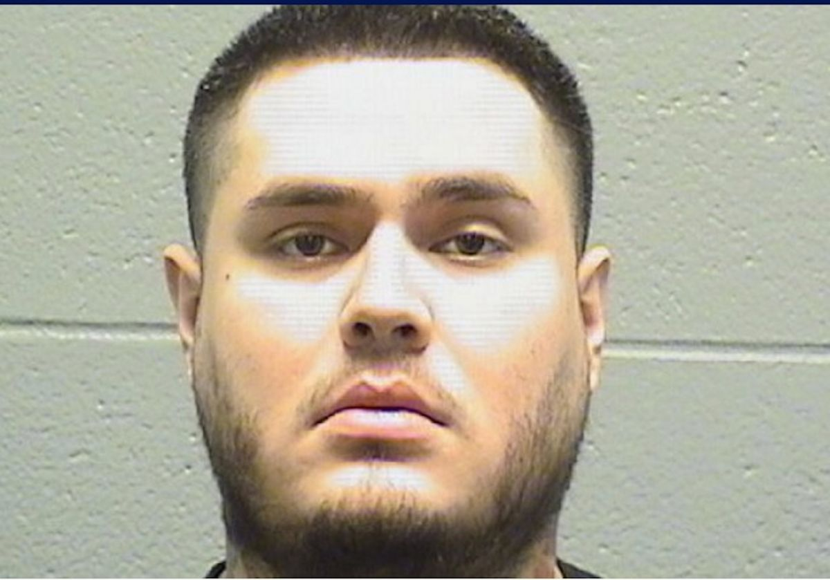 El pandillero Marco Pulido acusado de asesinar a tiros a María Reverón. Oficina del Alguacil del Condado de Cook.