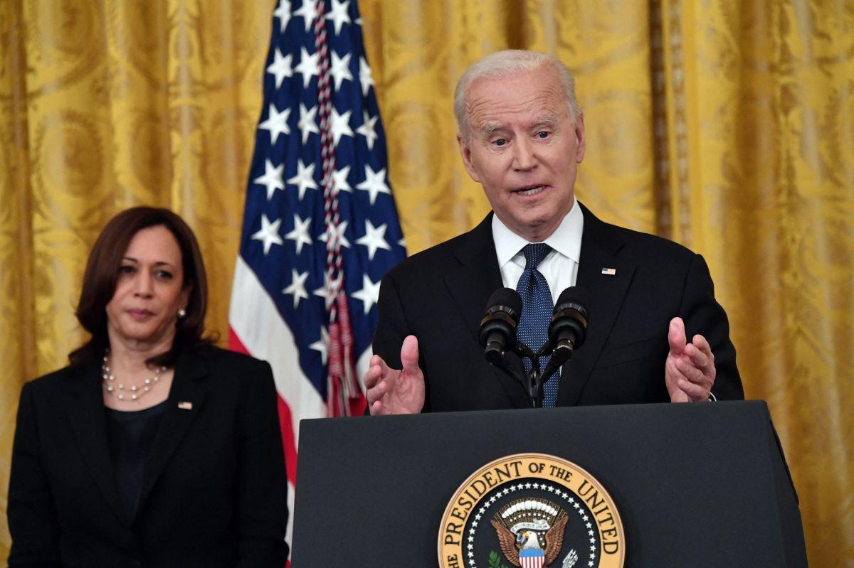 La vicepresidenta Kamala Harris y el presidente Joe Biden.