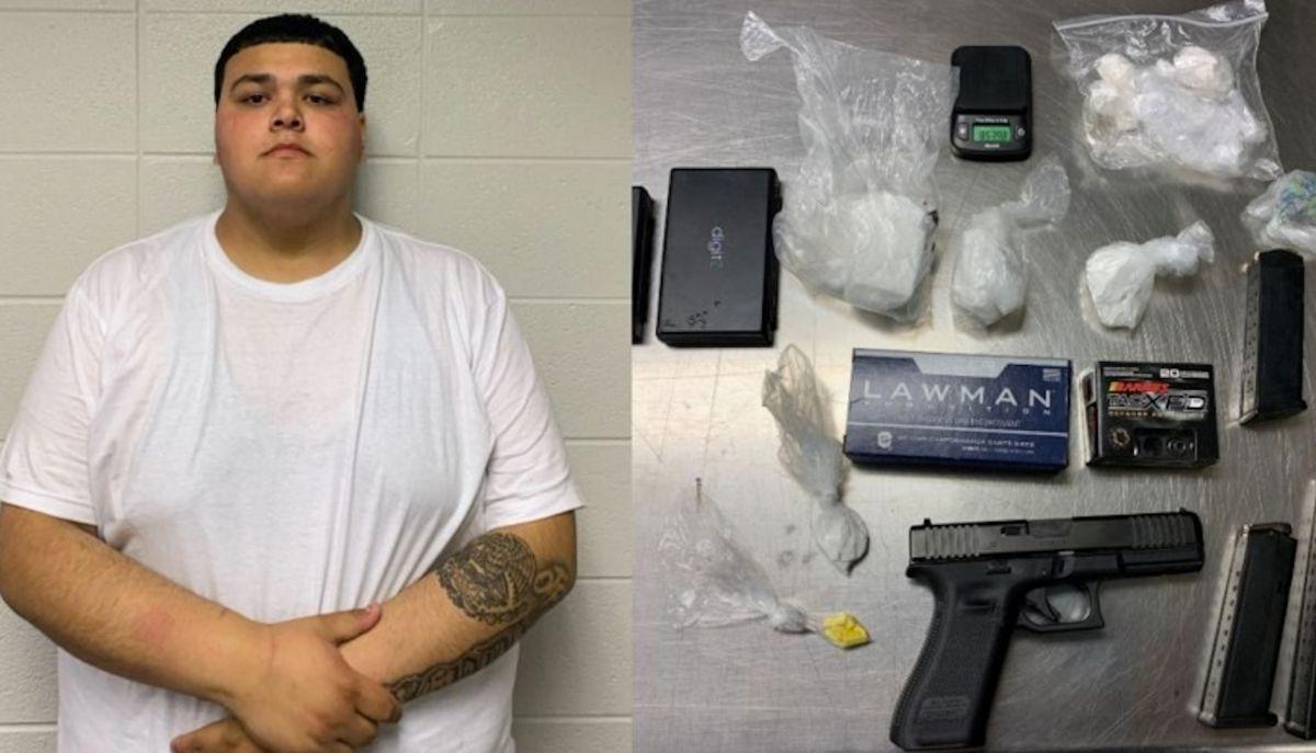 Autoridades realizaron una orden de registro en la casa Ángel López, de 21 años, en Round Lake, Illinois y encontraron drogas, un arma, municiones. Foto Captura Fox Chicago 32