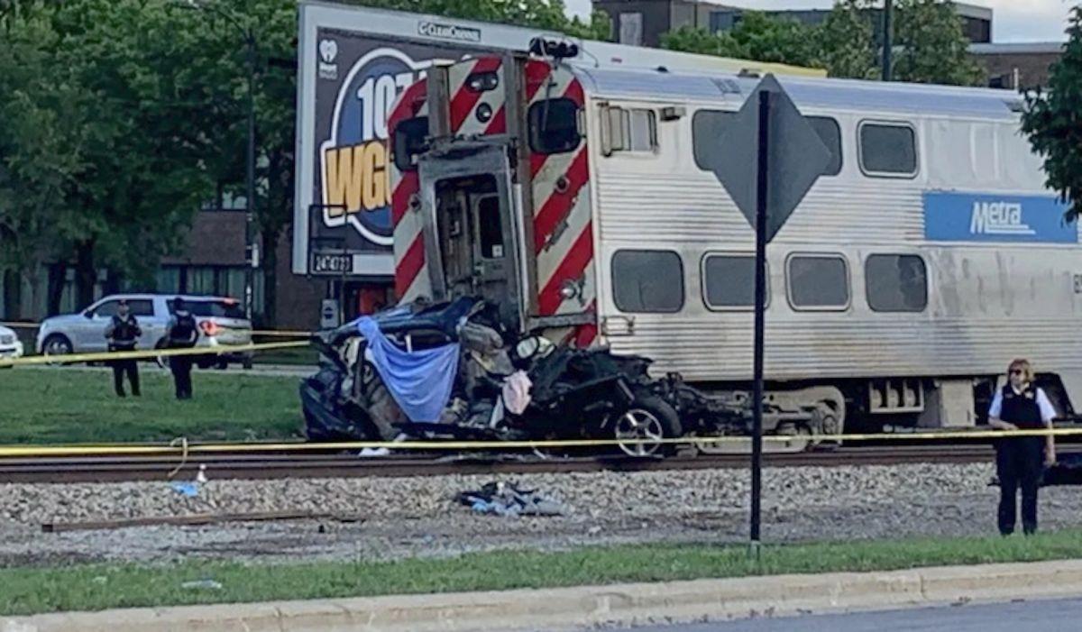 El tren 122 de Rock Island que se dirigía a la estación de LaSalle Street en Chicago había salido de Joliet a las 4:25 pm. Fox 32 Chicago.