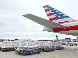 Millones de vacunas contra el coronavirus son enviadas desde el Aeropuerto O'Hare de Chicago a Guatemala