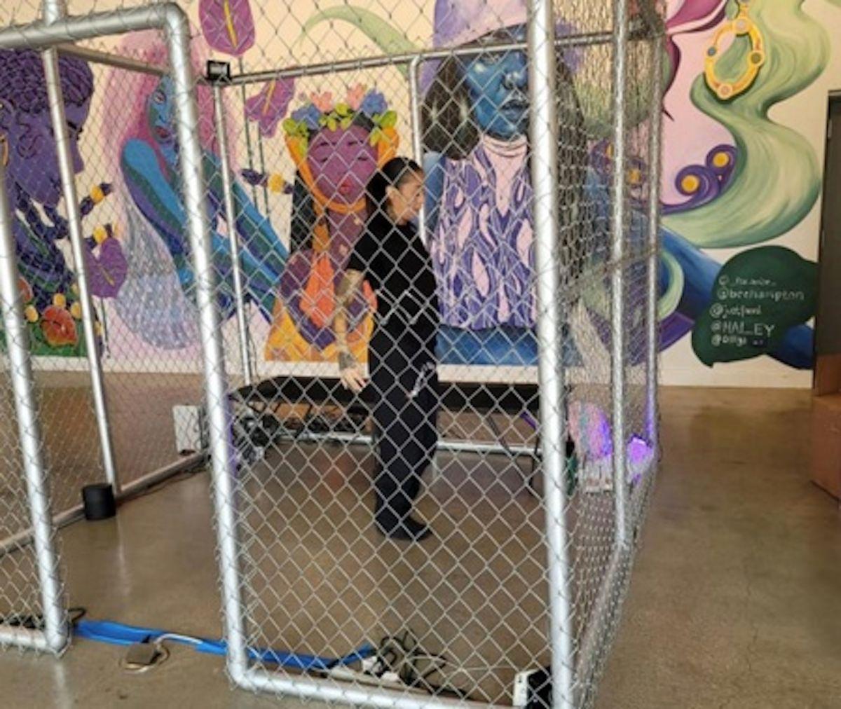 Proyecto Mariposa, el cual es una instalación de arte de una semana que llama la atención sobre la crisis fronteriza. Foto Cortesía Cecilia Garcia