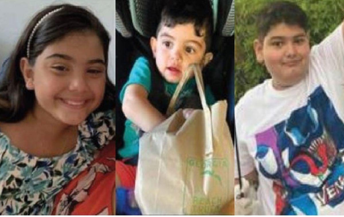 Minka Miller de siete años, Carmine Miller de 1 año y Geter Metlow de 11 años fueron vistos por última vez el 11 de agosto con su padre. Foto Cortesía