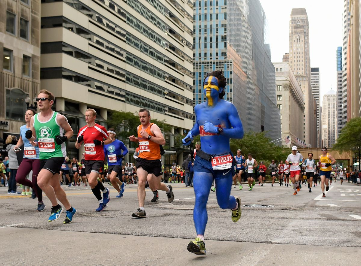 Participantes en el Maratón de Chicago de 2019.