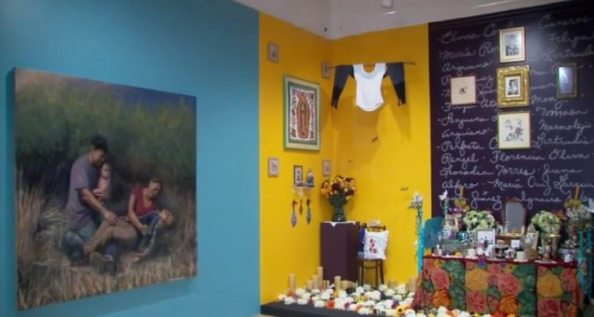 Este año la exhibición el Día de Muertos del Museo Nacional de Arte Mexicano de Pilsen evocará la memoria de las víctimas de la pandemia del coronavirus. Foto captura ABC7 Chicago