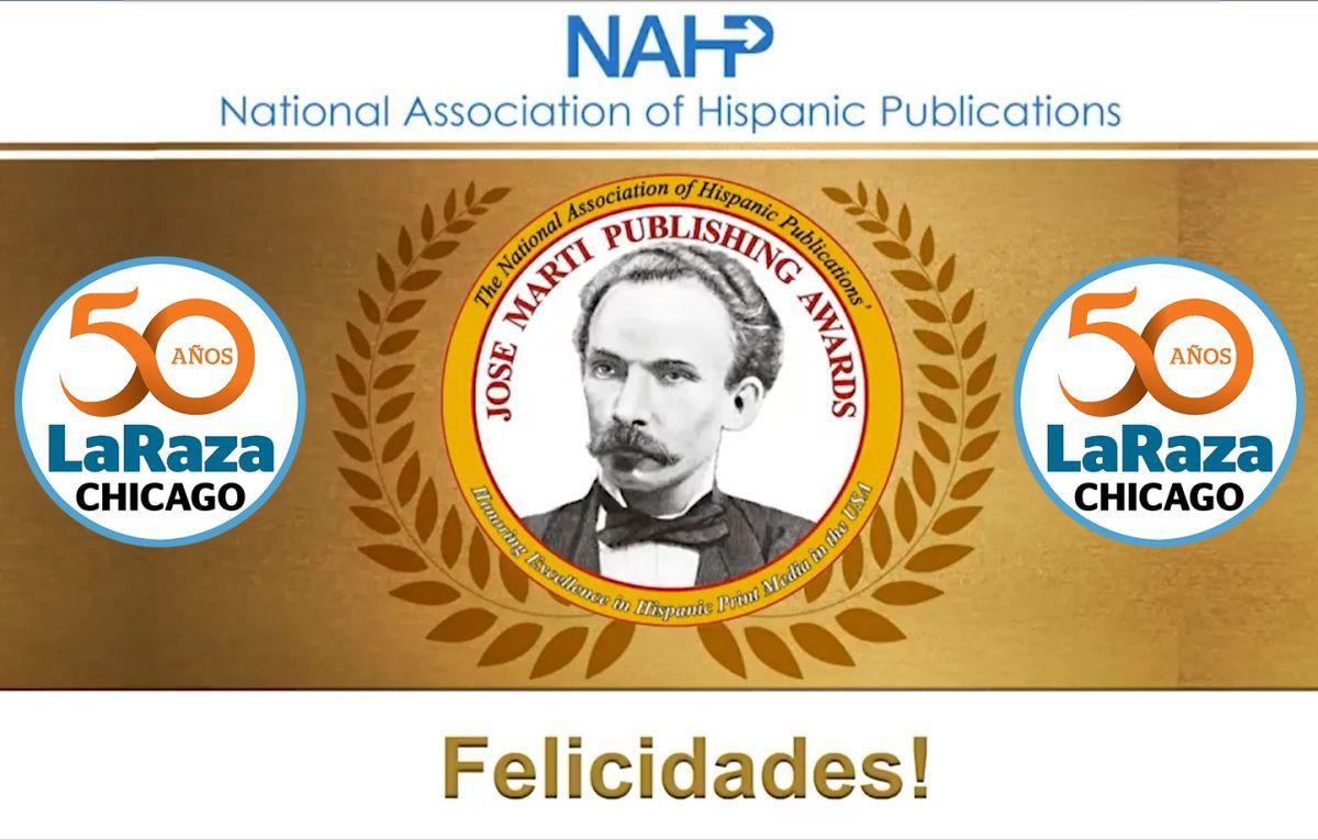 La Raza fue reconocida en 2021 como el mejor semanario en español de Estados Unidos por la Asociación Nacional de Publicaciones Hispanas. (NAHP/La Raza)
