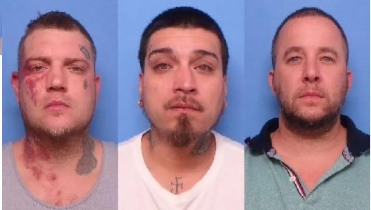 Michael Ingersoll de 31 años, Eric Bickwermert 33 años de Zion, Illinois y Nicholas Maples de 37 años de Luthersville, Georgia también fueron acusados de uso ilegal de un arma.  Foto Departamento de Policía de Waukegan